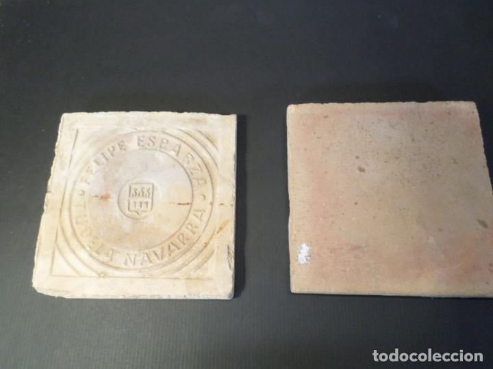 BALDOSA BARRO FELIPE ESPARZA TUDELA NAVARRA (Antigüedades - Técnicas - Herramientas Profesionales - Albañileria)
