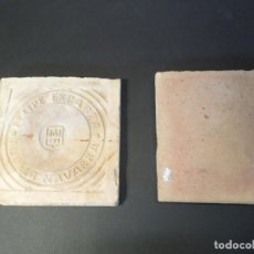 Antigüedades: BALDOSA BARRO FELIPE ESPARZA TUDELA NAVARRA. Lote 150646586