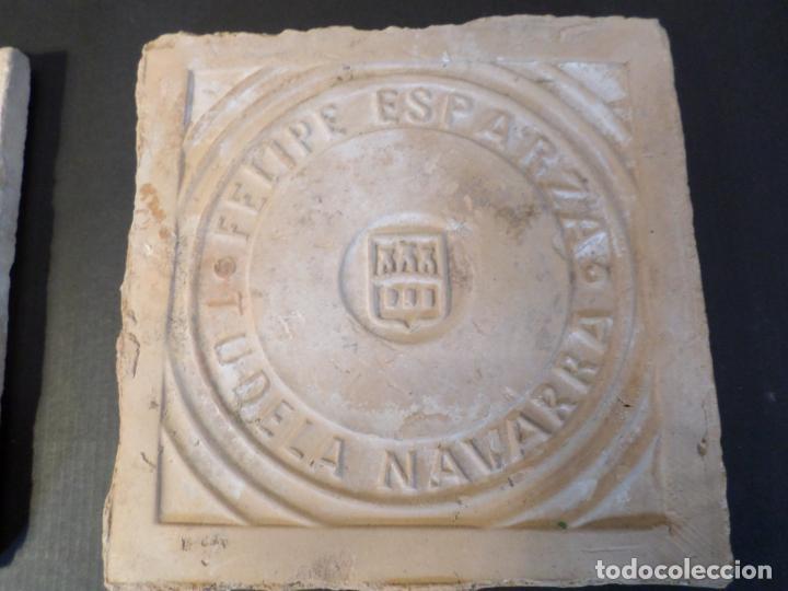 Antigüedades: BALDOSA BARRO FELIPE ESPARZA TUDELA NAVARRA - Foto 4 - 150646586