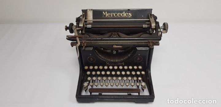 419-ANTIGUA MAQUINA DE ESCRIBIR MERCEDES MODEL 5 BUEN ESTADO GENERAL (Antigüedades - Técnicas - Máquinas de Escribir Antiguas - Mercedes)