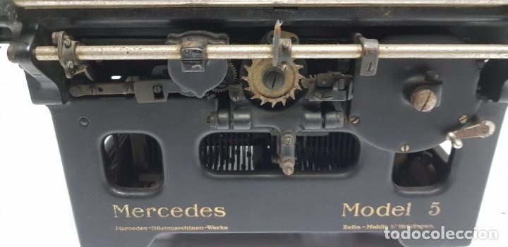 Antigüedades: 419-ANTIGUA MAQUINA DE ESCRIBIR MERCEDES MODEL 5 BUEN ESTADO GENERAL - Foto 8 - 150702818
