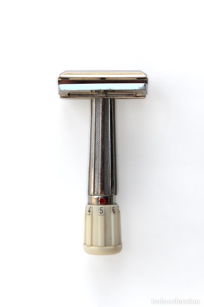 Antiquitäten: Antigua maquinilla de afeitar Mikron Ben Hur, en su caja original. Creo que es marca Apollo - Foto 2 - 152129754