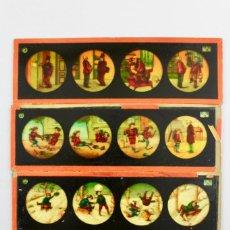 Antigüedades: LM-4. LOTE DE 4 PLACAS O CRISTALES PARA LINTERNA MAGICA.. Lote 150784642