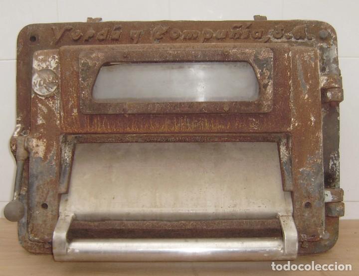 Antigüedades: Puerta de horno de panaderia - Verdu y compañia.Años 50. - Foto 2 - 150849786