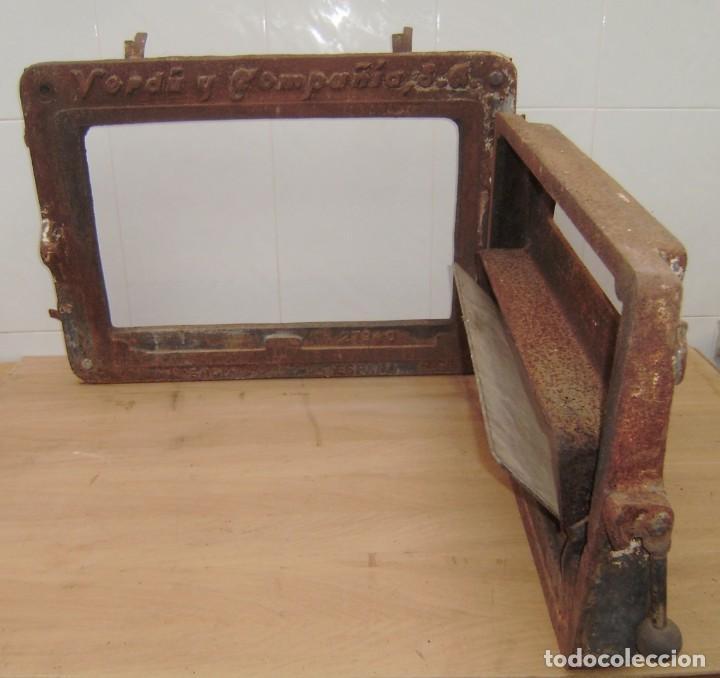 Antigüedades: Puerta de horno de panaderia - Verdu y compañia.Años 50. - Foto 3 - 150849786