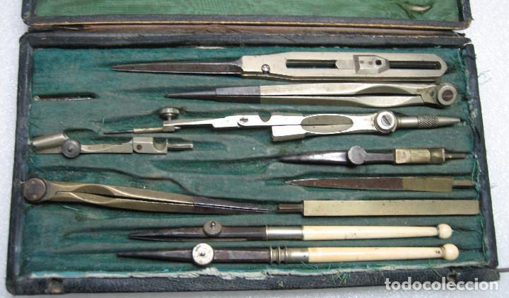 Antigüedades: caja compases antiguos - Foto 2 - 150862826