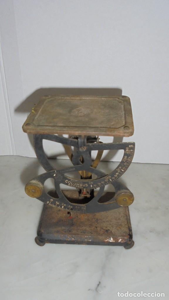 Antigüedades: (M) ANTIGUA BALANZA / BASCULA - PARA PESAR CARTAS METAL - HIERRO ORIGINAL COLUMBUS IMPORTE D'ALLEMAG - Foto 2 - 150922810