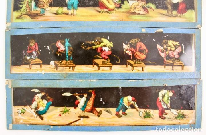 Antigüedades: LM-7 LOTE DE 5 PLACAS O CRISTALES PARA LINTERNA MAGICA . - Foto 2 - 150928506