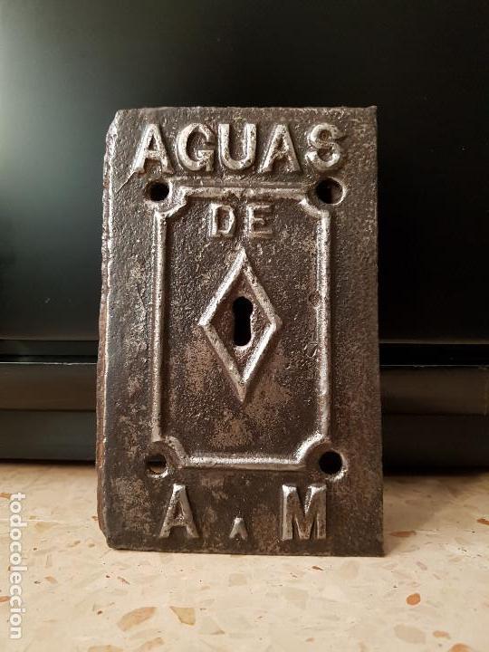 PUERTA CONTADOR AGUAS DE ARGENTONA A MATARÓ (Antigüedades - Técnicas - Cerrajería y Forja - Varios Cerrajería y Forja Antigua)