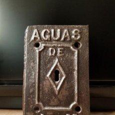Antigüedades: PUERTA CONTADOR AGUAS DE ARGENTONA A MATARÓ. Lote 150949466