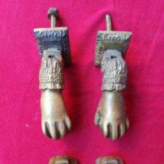 Antigüedades: JUEGO DE ALDABAS DE BRONCE PARA PORTÓN. Lote 151030818