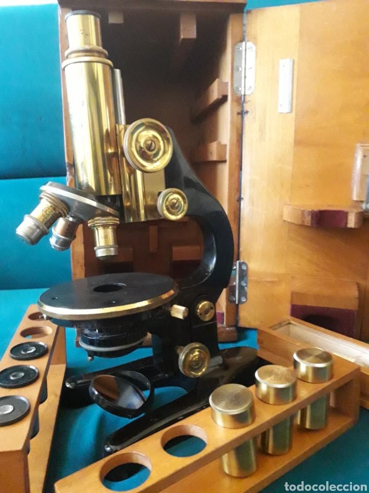 MICROSCOPIO ERNST LEITZ WETZLAR ( AÑO APROX. 1930 ) (Antigüedades - Técnicas - Instrumentos Ópticos - Microscopios Antiguos)