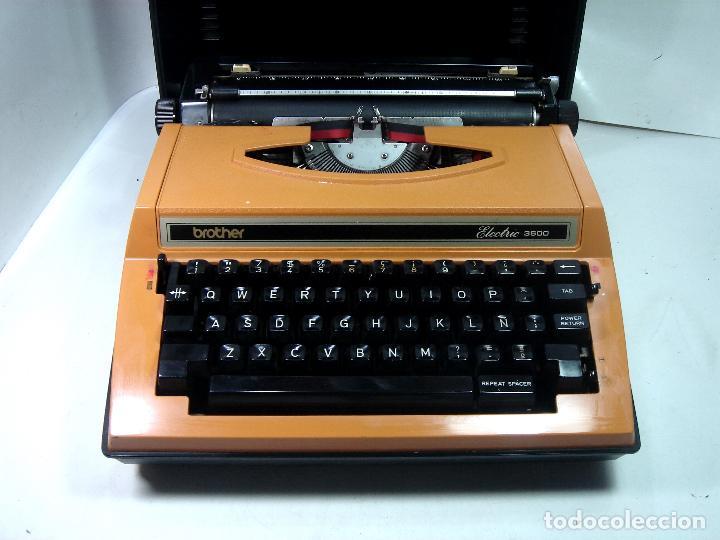 MAQUINA ESCRIBIR ELECTRICA-BROTHER ELECTRIC 3600- JAPAN 1980 + MALETA TRANSPORTE (Antigüedades - Técnicas - Máquinas de Escribir Antiguas - Otras)