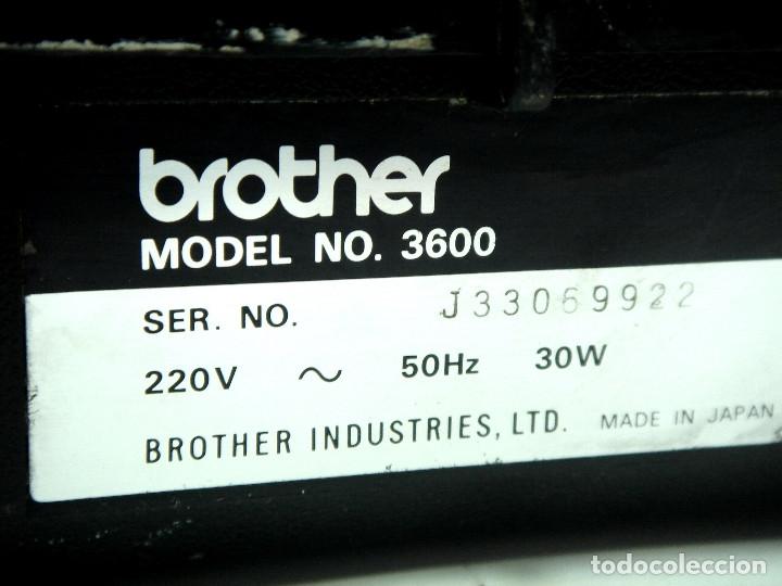 Antigüedades: MAQUINA ESCRIBIR ELECTRICA-BROTHER ELECTRIC 3600- JAPAN 1980 + MALETA TRANSPORTE - Foto 3 - 151161738