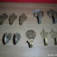 Antigüedades: COLGADORES DE METAL PARA PARED, ETC. Lote 151303530