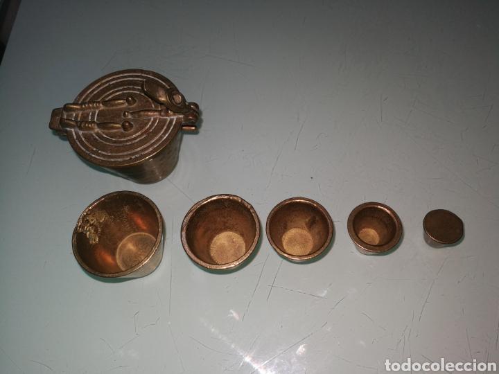 Antigüedades: JUEGO DE PESAS. - Foto 4 - 151317970