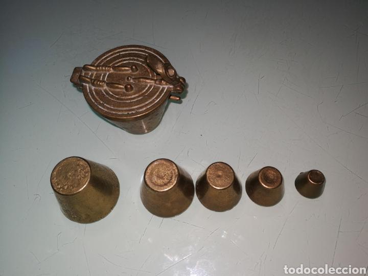 Antigüedades: JUEGO DE PESAS. - Foto 5 - 151317970