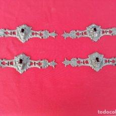 Antigüedades: 4 BOCA LLAVES DE BRONCE CABEZA DE LEON. Lote 151481702
