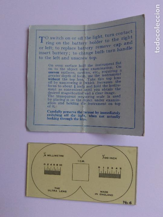 Antigüedades: LUPA FILATELICA CON LUZ - Foto 4 - 151516102