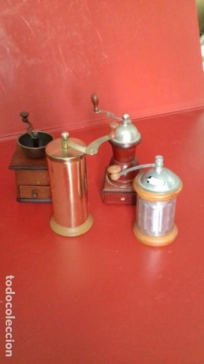 Antigüedades: MOLINILLOS DE CAFÉ MINI. COLECCIÓN DE 4 UNIDADES. PRECIOSAS RÉPLICAS PARA DECORACIÓN - Foto 2 - 151522294