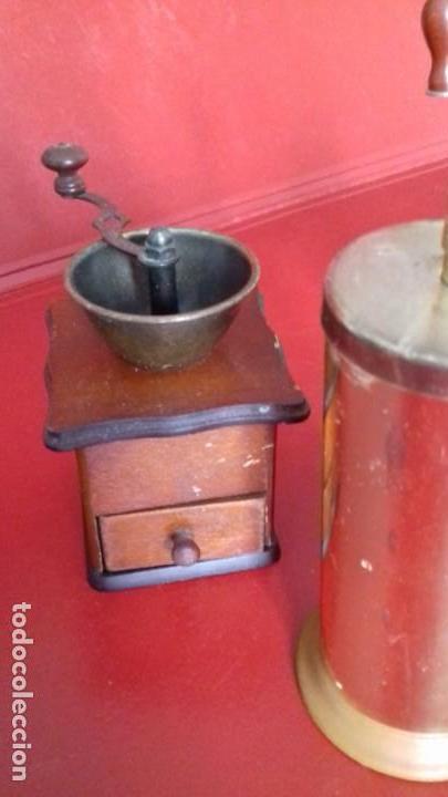 Antigüedades: MOLINILLOS DE CAFÉ MINI. COLECCIÓN DE 4 UNIDADES. PRECIOSAS RÉPLICAS PARA DECORACIÓN - Foto 3 - 151522294