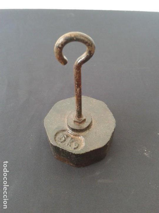 PESA PONDERAL CONTRAPESO 400 GR (Antigüedades - Técnicas - Medidas de Peso - Ponderales Antiguos)