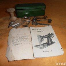 Antigüedades: CAJA METALICA SIGMA CON INSTRUCIONES MODELO A + HERRAMIENTAS + UTENSILIOS. Lote 151510770