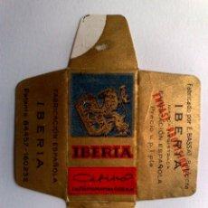 Antigüedades: HOJA DE AFEITAR ANTIGUA,,IBERIA CEFIRO,SUPER FINA DE ENVASE PROVISIONAL. Lote 151586846