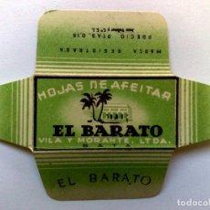 Antigüedades: HOJA DE AFEITAR ANTIGUA,EL BARATO (PTAS.0,15) VILA Y MORANTE LT-DA BATA DE J.VOLLMER. Lote 151704930
