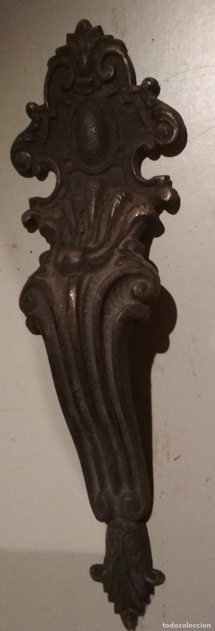 TIRADOR METAL PUERTA O ARMARIO (Antigüedades - Técnicas - Cerrajería y Forja - Tiradores Antiguos)