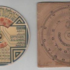 Antigüedades: CIRCUNFERENCIA CALCULADORA JP MODELO REGISTRADO CON FUNDA DE CARTÓN Y HOJA DE INSTRUCCIONES. Lote 151824998