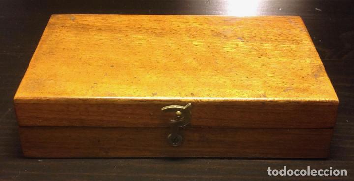 Antigüedades: Juego de pesas de precisión (50gr) - Foto 2 - 151903538