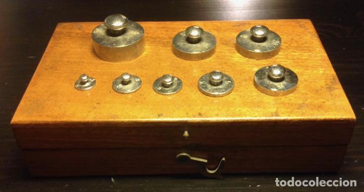 Antigüedades: Juego de pesas de precisión (50gr) - Foto 3 - 151903538