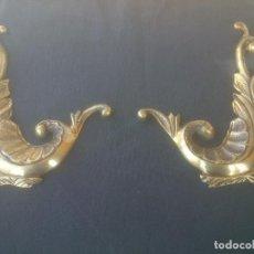 Antigüedades: ANTIGUOS ELEMENTOS DECORATIVOS PARA ESCUDO HERÁLDICO EN BRONCE MACIZO. Lote 151942234
