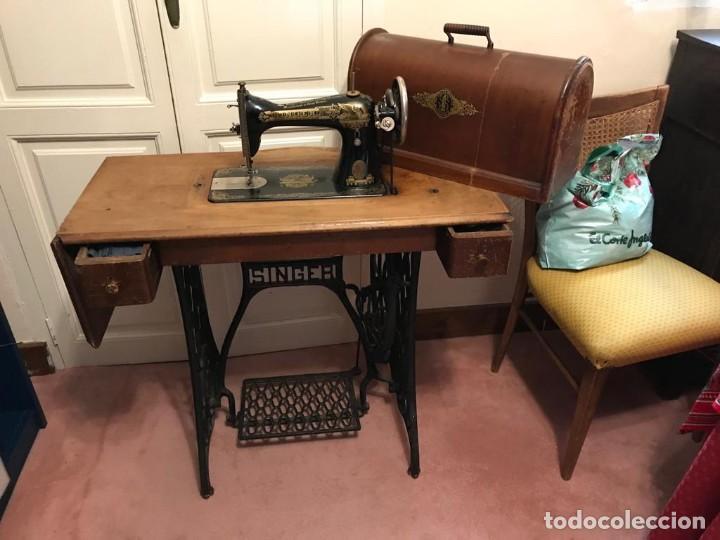 Antigüedades: Maquina de coser SINGER (FUNCIONA) - Foto 3 - 151978562