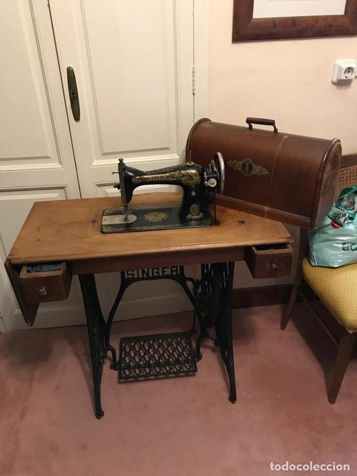 Antigüedades: Maquina de coser SINGER (FUNCIONA) - Foto 4 - 151978562