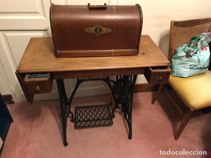 Antigüedades: Maquina de coser SINGER (FUNCIONA) - Foto 5 - 151978562