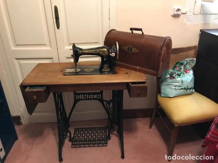 Antigüedades: Maquina de coser SINGER (FUNCIONA) - Foto 7 - 151978562