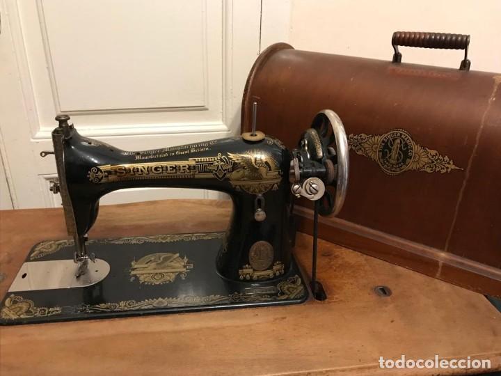 Antigüedades: Maquina de coser SINGER (FUNCIONA) - Foto 9 - 151978562