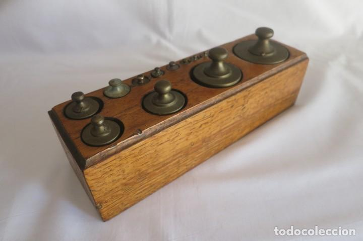 Antigüedades: juego de pesas para balanza - Foto 2 - 152001782