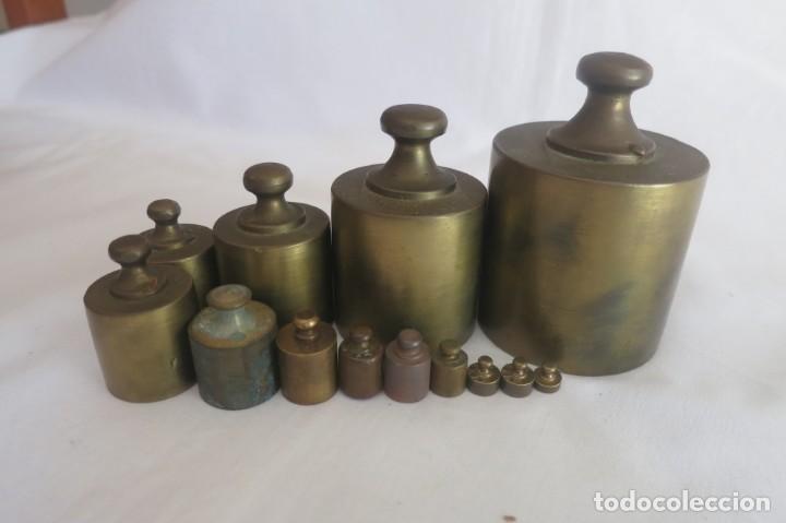 Antigüedades: juego de pesas para balanza - Foto 5 - 152001782