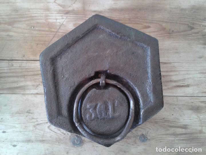 Antigüedades: PESA ANTIGUA 36 LIBRAS VALENCIANAS - Foto 3 - 152020546
