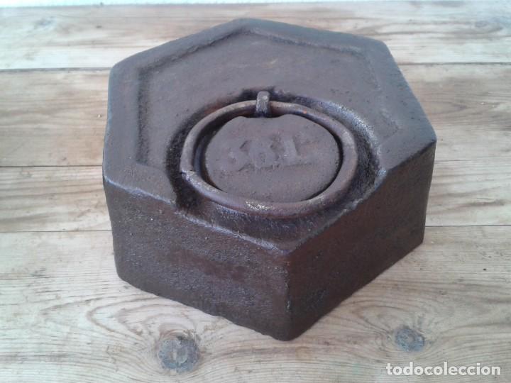 Antigüedades: PESA ANTIGUA 36 LIBRAS VALENCIANAS - Foto 4 - 152020546