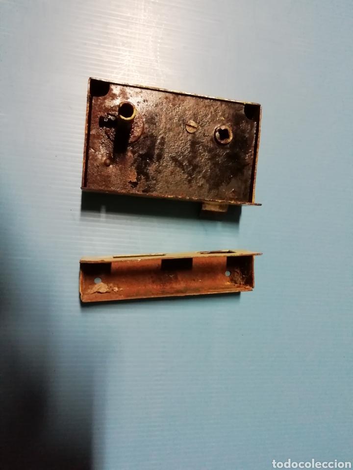 Antigüedades: Cerradura con llave y manilla - Foto 3 - 152056956