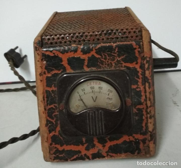 VOLTIMETRO O TRANSFOMADOR ANTIGUO MARCA CETRA (Antigüedades - Técnicas - Herramientas Profesionales - Electricidad)