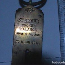 Antigüedades: DINAMÓMETRO BALANZA DE MUELLE SALTER Nº 3 POCKET BALANCE BRITÁNICA. 50 LB. AÑOS 40.. Lote 152205090