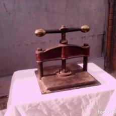 Antigüedades: PRENSA ENCUADERNAR. Lote 152220330