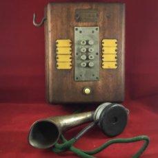 Teléfonos: TELÉFONO ANTIGUO DE MADERA, FRANCÉS, INTERCOMUNICADOR CON OCHO PULSADORES.. Lote 189123262