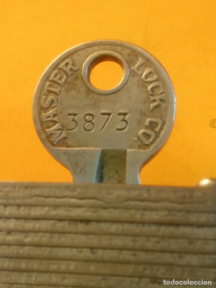 Antigüedades: ANTIGUO CANDADO MASTER LOCK. U.S.A. PERFECTO Y FUNCIONANDO. LIMPIADO Y ENGRASADO. DESCRIP. Y FOTOS - Foto 7 - 152273762