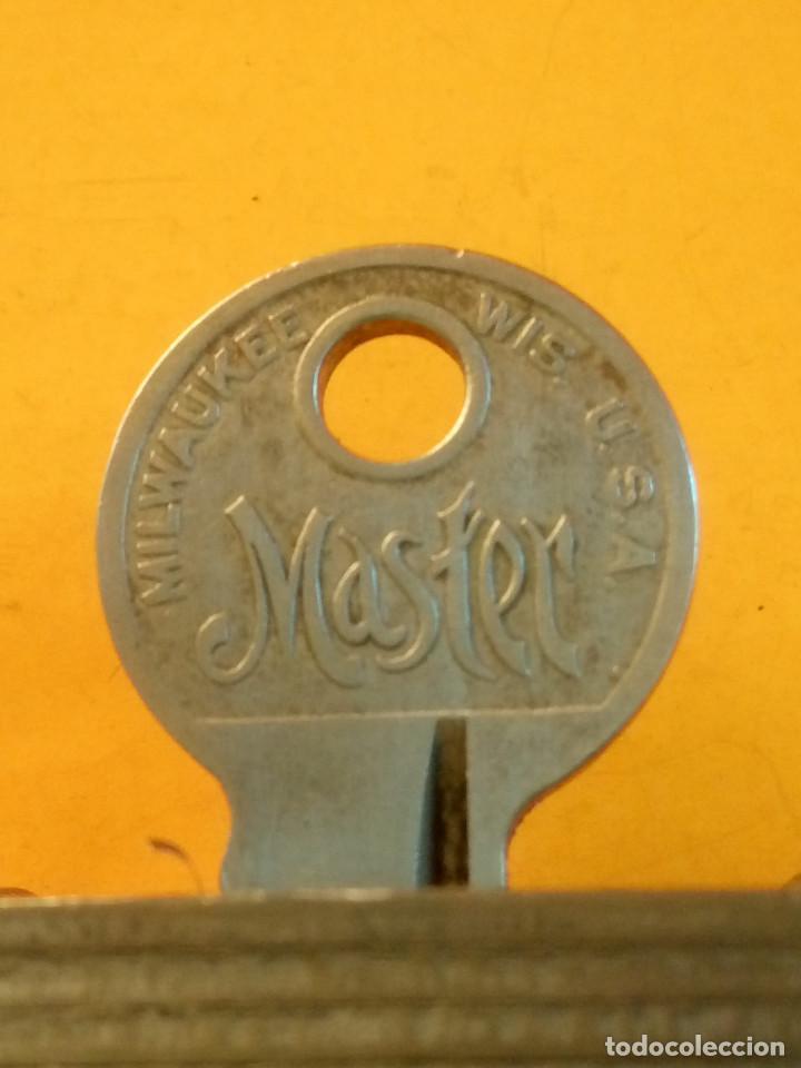 Antigüedades: ANTIGUO CANDADO MASTER LOCK. U.S.A. PERFECTO Y FUNCIONANDO. LIMPIADO Y ENGRASADO. DESCRIP. Y FOTOS - Foto 8 - 152273762